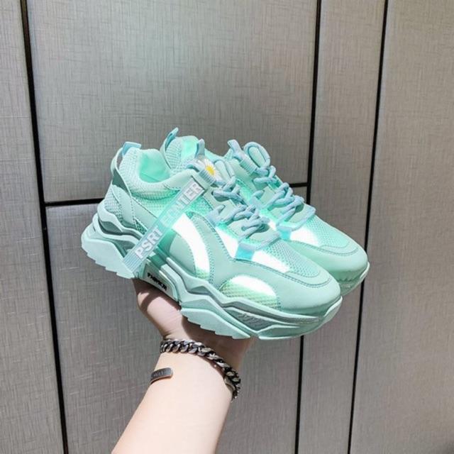 (3 màu) Giày nữ,giày thể thao sneaker PSRT hoa cúc mới 2020