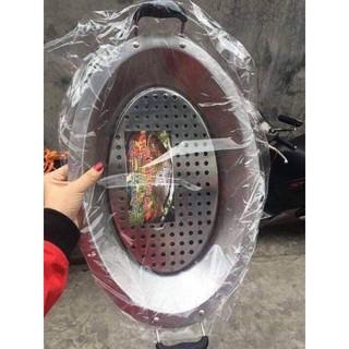 Khay lẩu inox dùng nấu ăn- Khay lẩu  cá chép om dưa, nấu lẩu loại to dùng các loại bếp gas ,bếp từ