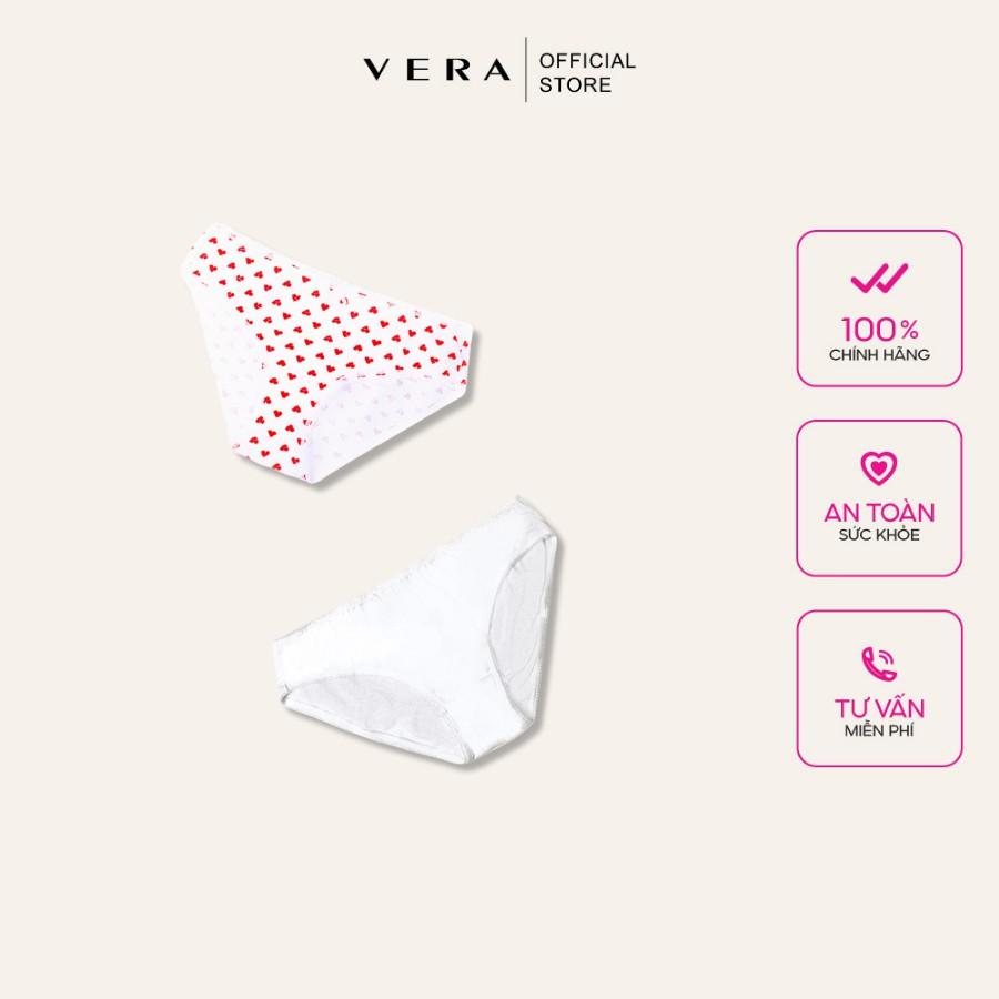 Combo 02 quần lót nữ cotton có họa tiết VERA 8397