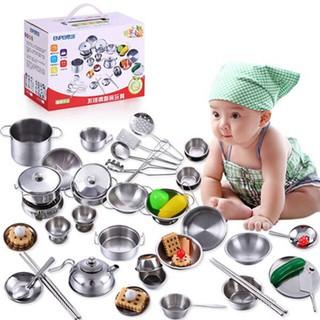 (yes4all) bộ đồ chơi nấu ăn 40 chi tiết inox