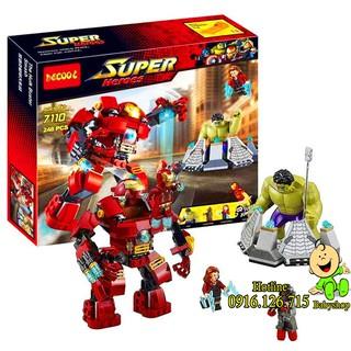 Bộ Lego Xếp Hình Ninjago Super Heroes Marvel – Iron Man vs Hulk. Gồm 248 Chi Tiết. Lego Ninjago Lắp Ráp Đồ Chơi Cho Bé.