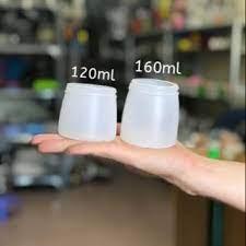 cốc nhựa đựng sữa chua nắp xoáy loại 120ml
