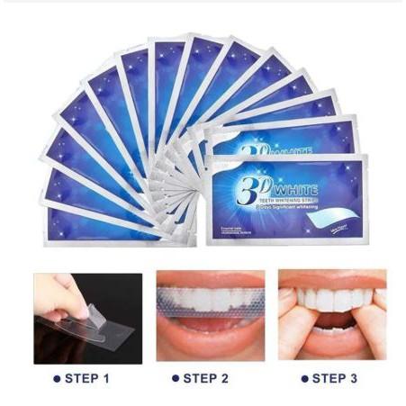 Lẻ 1 Gói 2 miếng dán trắng răng tiện lợi 3D White Teeth Whitening Strips