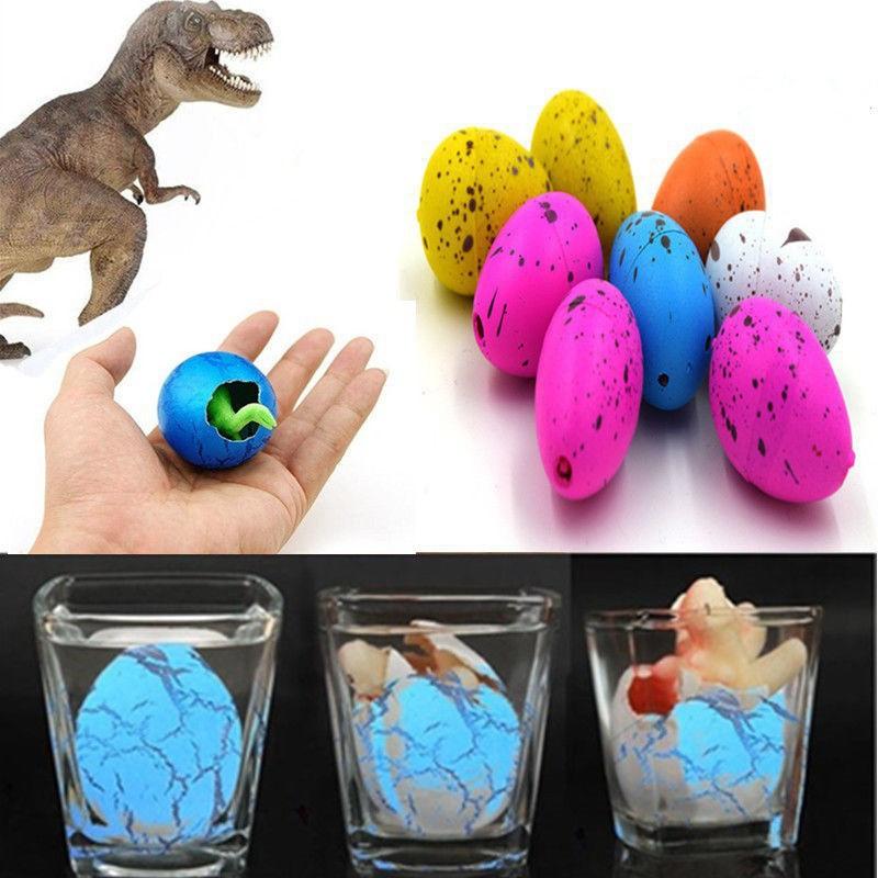 (M466) Bộ 6 sản phẩm trứng khủng long nở đồ chơi nở trong nước