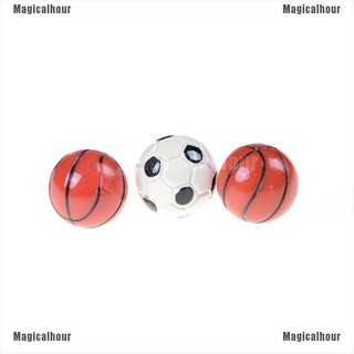 Magicalhour♥1:6/1:12 Dollhouse Miniature Sports Balls Soccer Football and Basketball Decor