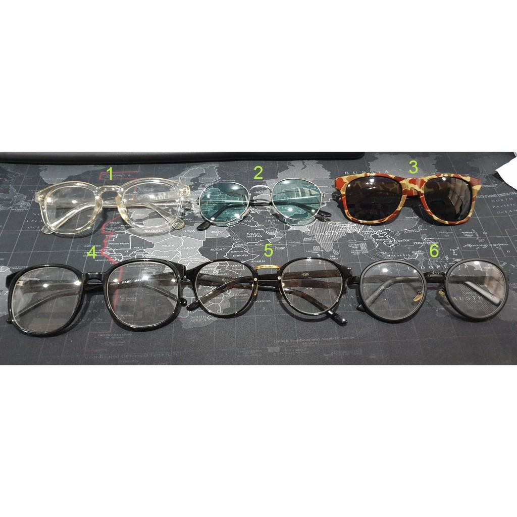 แว่นต่าแฟชั่น มือสอง สภาพดี อันล่ะ 50 บาท