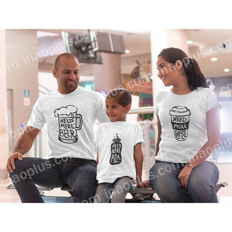 Áo thun dành cho gia đình-in áo theo yêu cầu
