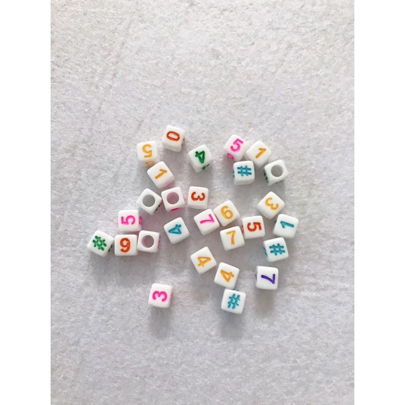Hạt xỏ hình chữ số bằng nhựa dùng để ghép số cho bé
