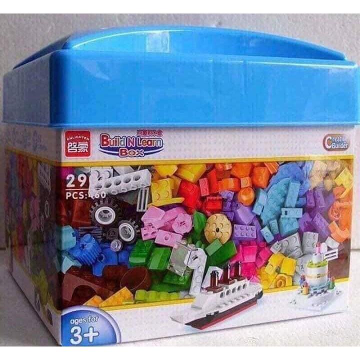 Bộ đồ chơi LEGO cho bé 460 miếng kích thích trí tuệ cho bé chất liệu nhựa ABS an toàn...