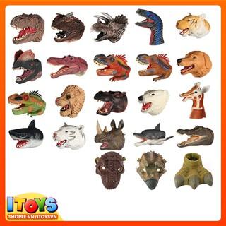 Găng tay khủng long, chó, gấu, sư tử, hươu… 20cm, ngộ nghĩnh cho bé hóa trang vui đùa