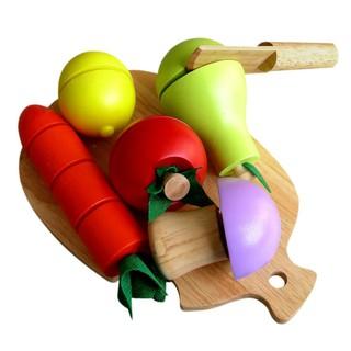 Bộ đồ chơi cắt 5 loại trái cây gỗ Winwintoys 60032