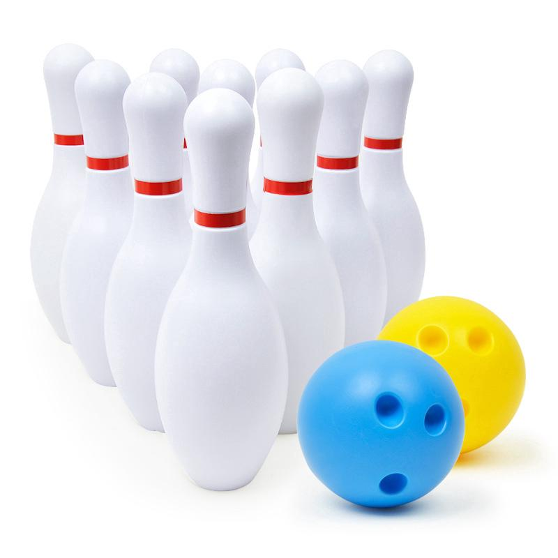 Large White Bowling toy set indoor sports toys
