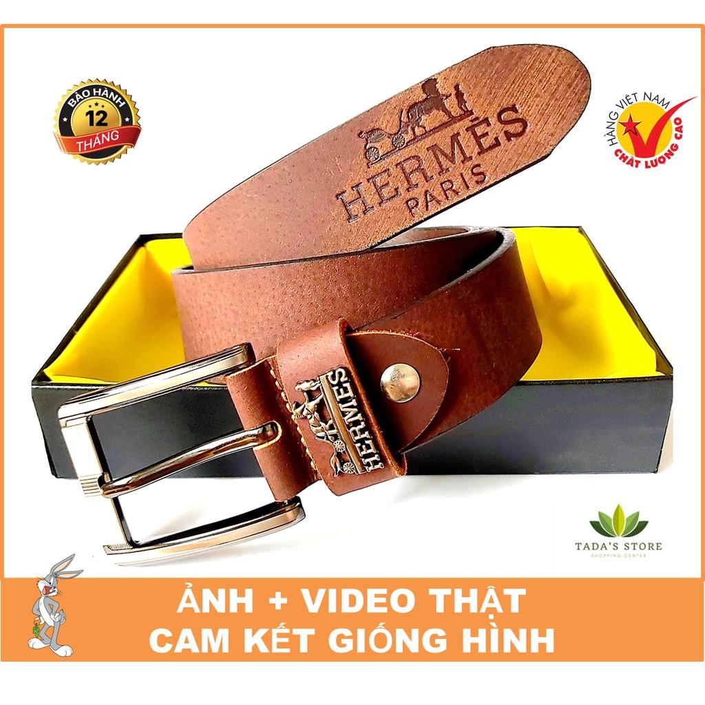 [BH 12 THÁNG] Thắt Lưng Nam Da Bò Sáp Cháy Hàng Cao Cấp Chất Lượng Bảo Hành 12 Tháng