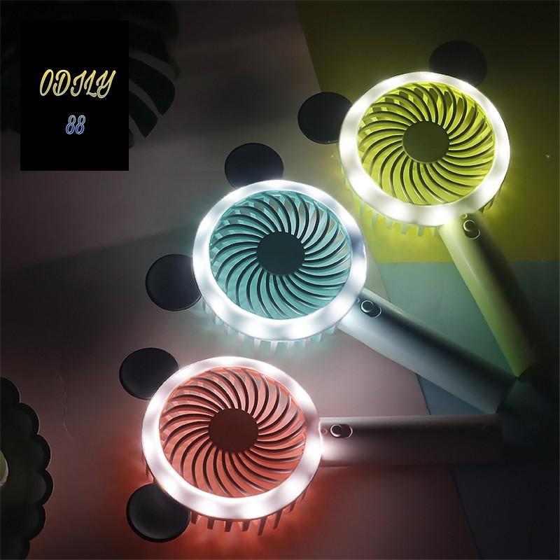 Quạt cầm tay Funny có đèn led | Quạt mini cầm tay Funny F-666 nhiều màu