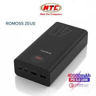 Pin dự phòng Romoss ZEUS 40+ dung lượng 40000mAh hỗ trợ sạc nhanh QC3.0 và sạc đảo chiều PD 18W (Đen) thumbnail