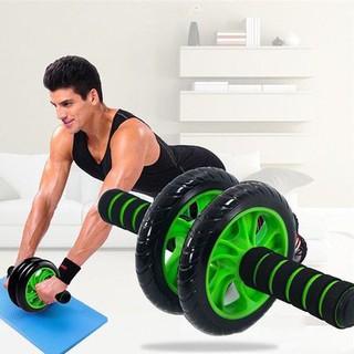 Dụng cụ tập gym thể dục thể thao con lăn tập bụng 2 bánh, máy tập cơ bụng tập gym ab tại nhà TẶNG thảm lót gối CL--095 thumbnail