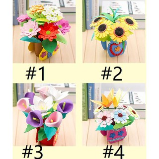 🦄HOT🦄Children's handmade color flowers DIY potted flowers puzzle creative gift