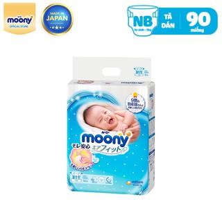 Tã dán sơ sinh Moony Newborn 90 miếng – Nhập khẩu Nhật Bản