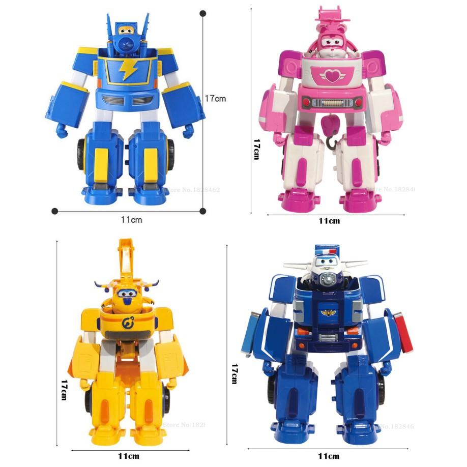 Super Wings Robot Biến Hình Kết Hợp Xe Cứu Hộ Nhỏ mô hình Dizzy Lốc Xoáy (mô hình cỡ lớn)