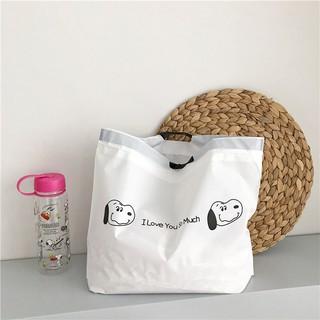 Nhật Bản dễ thương túi tote có thể gấp lại túi mua sắm dây rút du lịch lưới quần áo màu đỏ lưu trữ túi quà ins lyanwn thumbnail