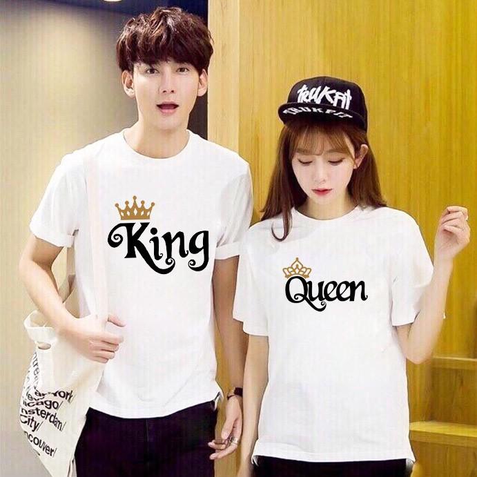 Áo thun Cặp Đôi Nam Nữ Couple King Queen AZ - Form Rộng BIGSIZE M403