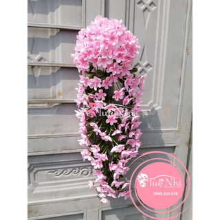 Chùm Đỗ Quyên Treo Tường – hoa vải hoa lụa cao cấp