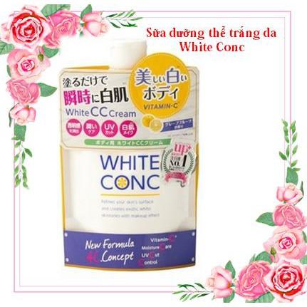 [Hàng Nhật]Sữa dưỡng thể White Conc TRẮNG DA