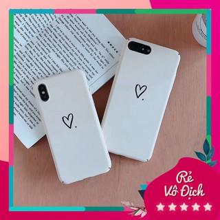 Ốp lưng Iphone trơn trái tim cứng thumbnail
