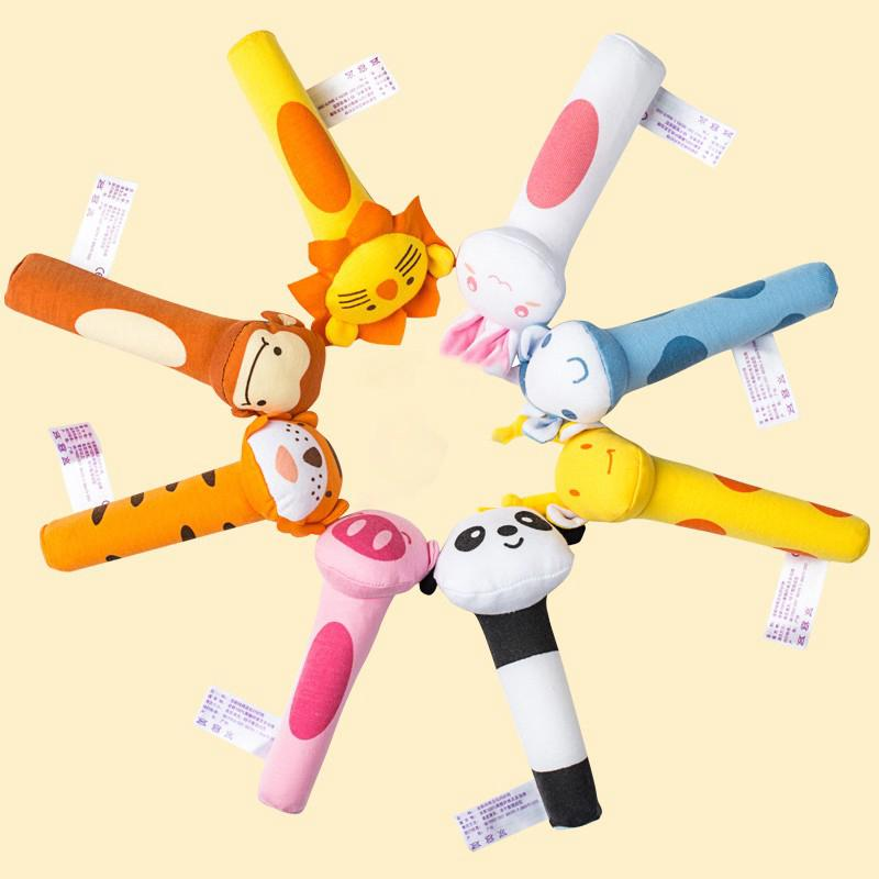 Animal Bell Rattle Educational Toys Soft Animal Shaped Toy
