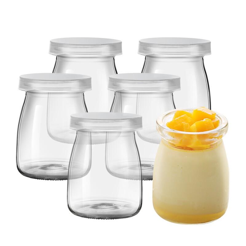 Hũ thủy tinh đựng sữa chua loại 100ml, có nắp sạch an toàn