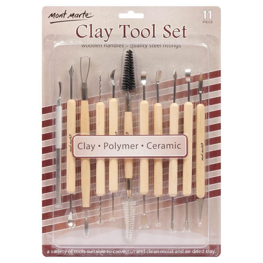 Bộ dụng cụ làm đất sét Nhật - Clay tool set (11 chiếc)