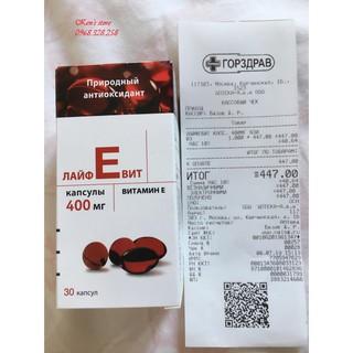 Vitamin E Đỏ Nga Zentiva 400 – HÀNG CHUẨN NGA 100%