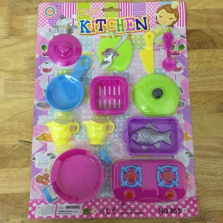 [HCM] Bộ đồ chơi nấu ăn 13 món dành cho bé tập làm đầu bếp