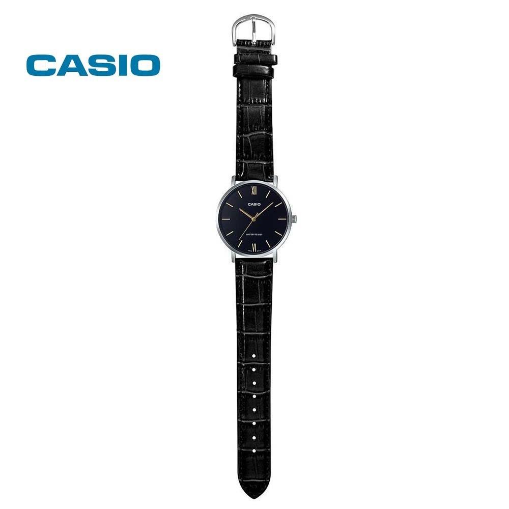Đồng hồ nữ chính hãng casio Anh Khuê LTP-VT01L-1BUDF dây da - có tem chống hàng giả