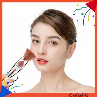 CODseller Contour Brush Ergonomic Transparent Dust-proof 3 in 1 Foundation Brush for Dressing Room