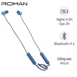 Tai nghe Bluetooth Roman S205 Xanh