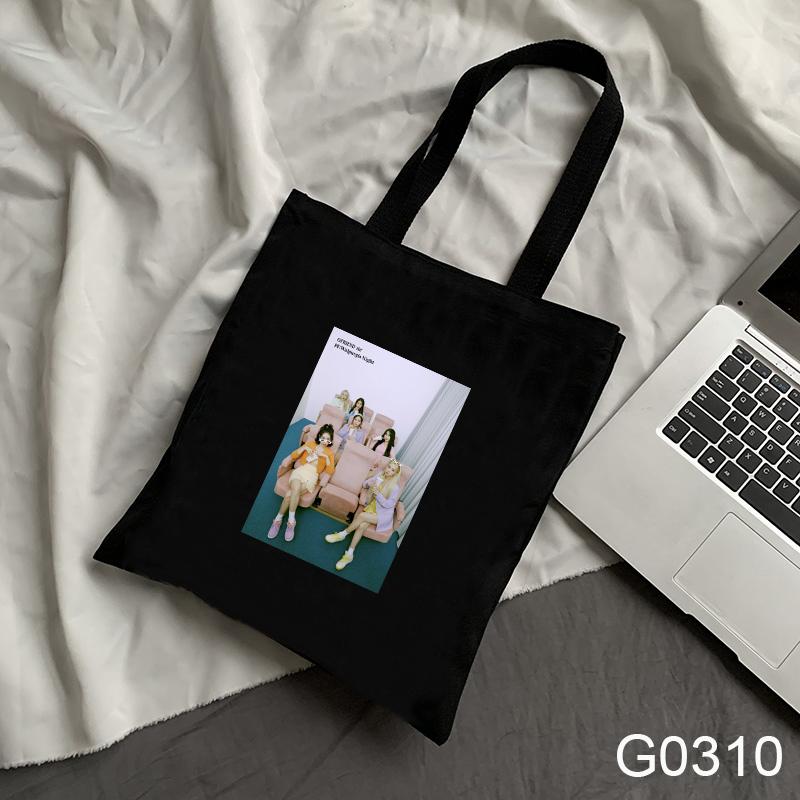 Túi Vải Đeo Vai In Chữ Gfriend Cho Nữ