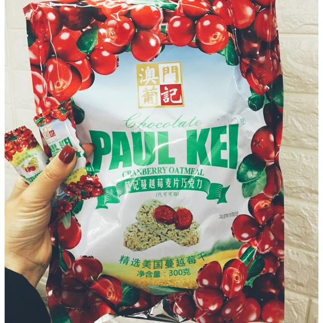 Bánh yến mạch cherry, việt quất, socola Paul kei