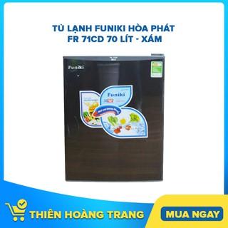 [ELHAC7 Giảm 7% Tối Đa 300K] Tủ lạnh mini Funiki Hòa Phát FR 71CD 70 lít – xám – Chỉ giao khu vực HCM