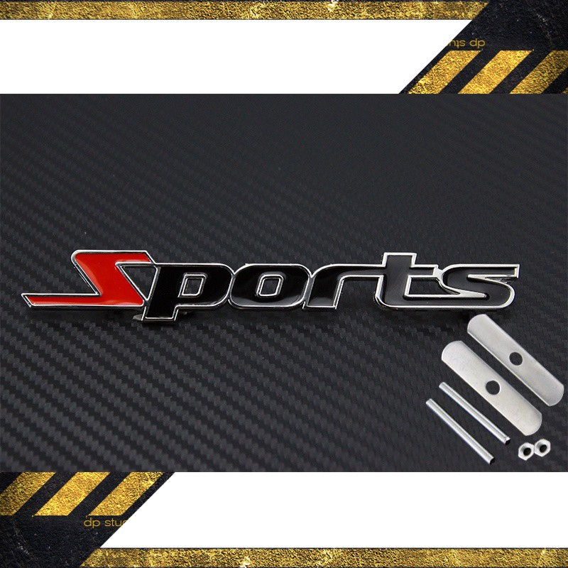 Decal sport kim loại
