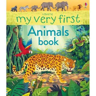 Sách khám phá thế giới động vật My Very First Animals book Usborne thumbnail
