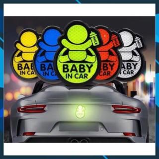 Decal PVC BABY IN CAR, Deacl phát quang(nhiều mẫu mã), Chống thấm nước, chống nắng thumbnail