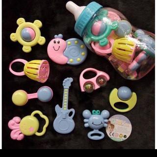 [Rẻ Vô Địch] Bình Ty BaBy Toys Xúc Xắc 9 Món Cho Bé Cam Kết Chất Lượng