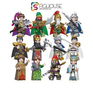 Đồ Chơi Lắp Ráp Non-lego Minifigures Tam Quốc Decool 2030A 2030B Quan Vũ, Khổng Minh, Lữ Bố, Triệu Vân, Xích Thố Mã thumbnail