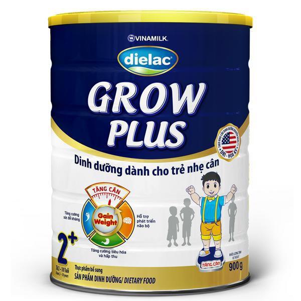 Sữa bột Dielac Grow Plus XANH 2+: Hộp Thiếc 900g
