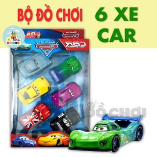 Xe đồ chơi GIÁ SỐC Bộ đồ chơi 6 xe ô tô chạy trớn bằng nhựa cho bé trai, bé gái - 5101AB - Thị trấn đồ chơi thumbnail