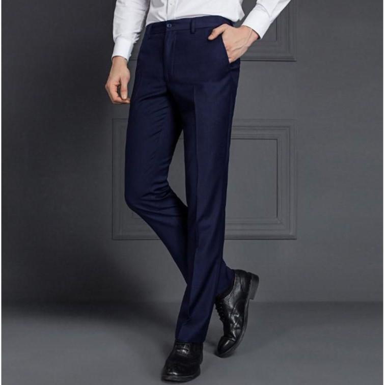 Quần âu nam màu ghi, xanh than và đen dáng ôm body Hàn Quốc