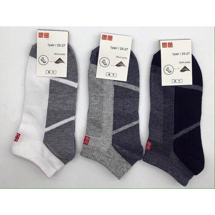 Set 5 đôi tất uni xuất Nhật cổ ngắn thông hơi thoáng khí