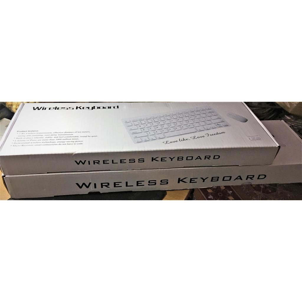 Bàn phím không dây Wireless Keyboard 2.4G kèm chuột không dây