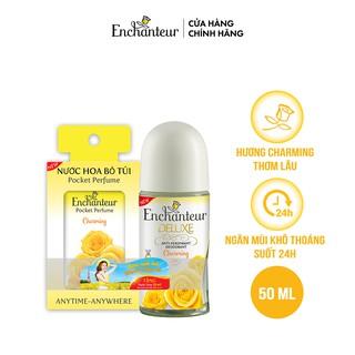 Lăn khử mùi hương nước hoa Enchanteur Charming 50ml - Tặng Nước hoa bỏ túi Charming 18ml thumbnail